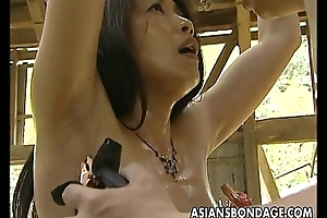 Asian hustler roped up so prexy can fuck her