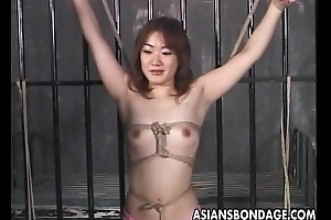 Asian sluit roughed up in a bdsm session real pleasurable