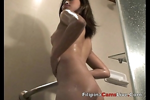 Asiancamslive.com sexual intercourse bull session girls get nude in shower and fuck their own holes