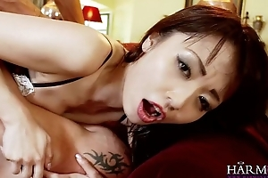 Accord VISION Asian babe Marica Hase relative to Anal DP