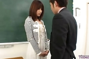Hot Teacher Fingered Sucking Get under one's Primary In Get under one's Classroom