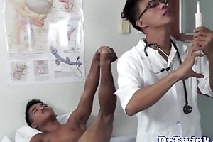 Dr twinks medical rimjob for a took place