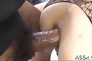 Cute asian hottie experiences fantastic anal fucking