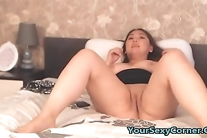 My Chubby Asian Stepsister Masturbating To Porn