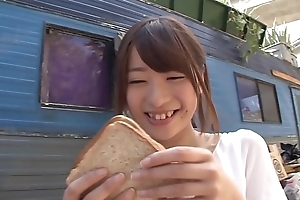 Hatsumi Saki fucks BBC beside trailer