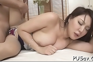 Glamorous asian enjoys her nipples haggard and ass slapped
