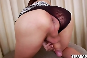 Gorgeous Asian Tgirl Chanel C Masturbates