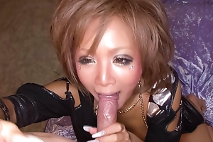 Riku Hinano has her big teats eaten and her pussy banged