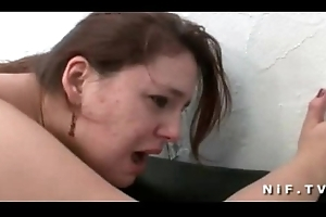 BBW french old bag hard anal fucked increased by fisted in threeway