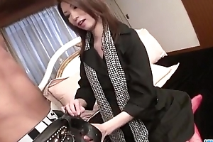 Spectacular Rinka Kanzaki blows at the getting fucked hard